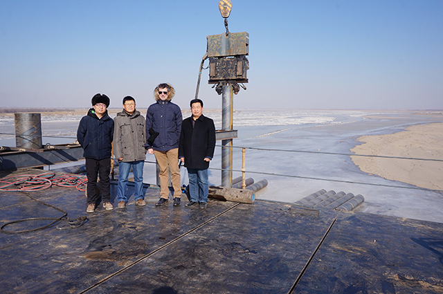 ICE,815C振动锤,黄河大桥,灌注桩平台,沙土打桩