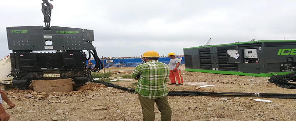 首台36RF免共振锤登陆青岛,助力钻孔灌注桩护筒工法!