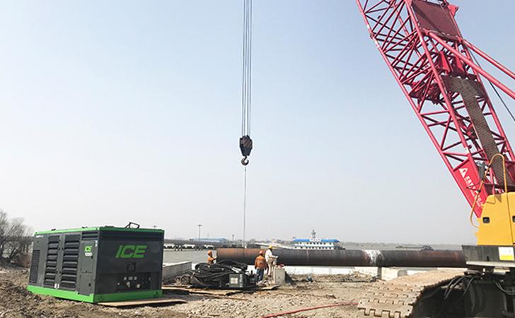 长江堤岸无扰动,ICE 36RF长江中心施工钢管桩监测验收成功!