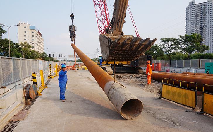 高效直接对桩10万米钢管桩