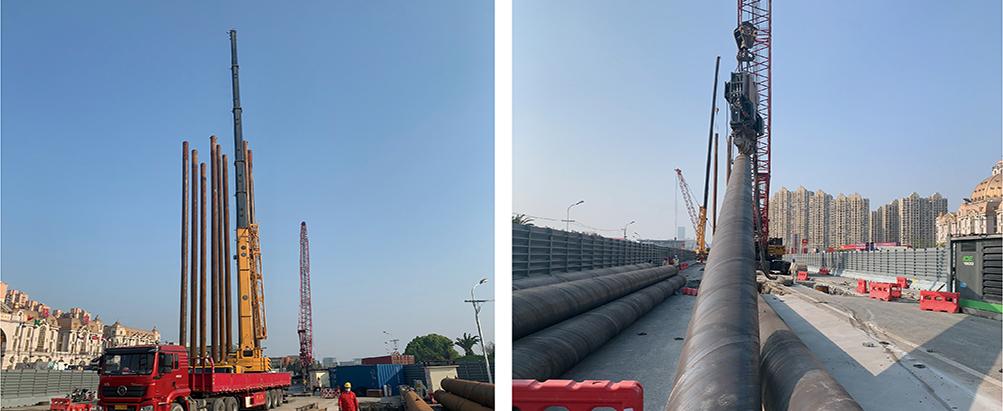 高架快速路钢桩基础进展