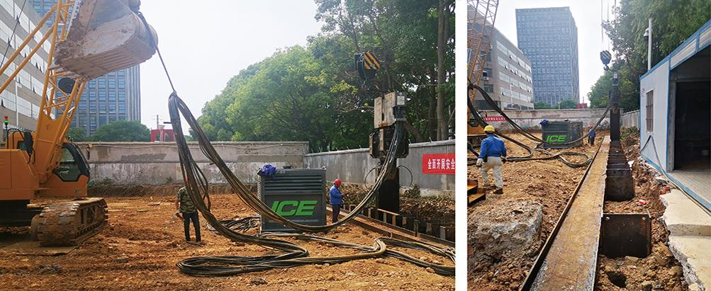 南京敏感地区工字钢配合施工高压旋喷桩