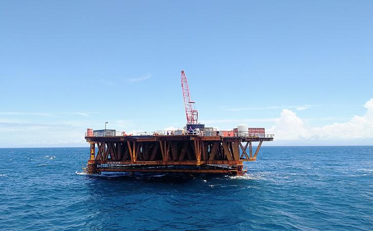 阳江风电场打入直径2940mm的辅助桩