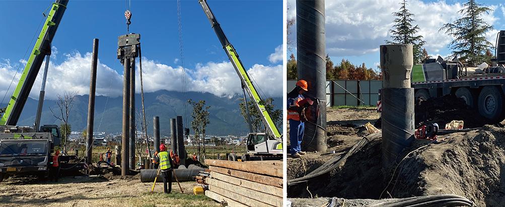 洱海生态走廊项目选择钢基础