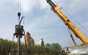 20RF免共振锤南京保护风景石护坡工程