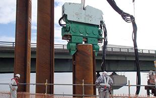 ICE55NF助力桥梁桩基新工法-钢管桩围堰