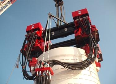 南通海洋水建结束江苏如东风电示范场桩基础施工