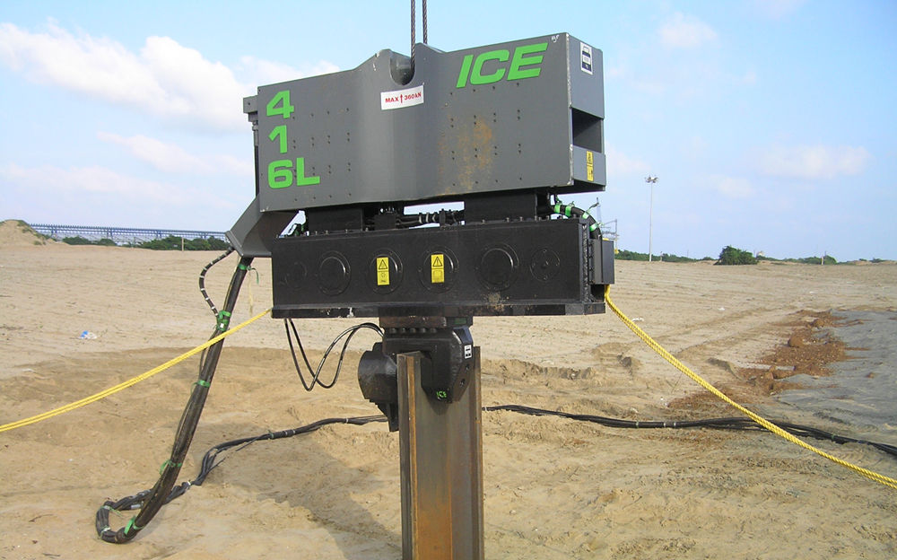 ICE振动锤打组合桩的三个优点