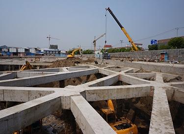 绿色地基:钢板桩代替地下连续墙