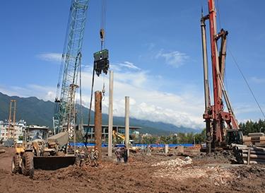 环保桩基施工:钻孔灌注桩?泥浆一扫光!